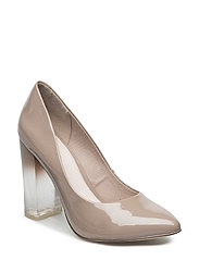 Clear Heel Pump EXP16 - NOUGAT