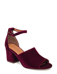 Velvet Party Sandal JAS17 - WINERED