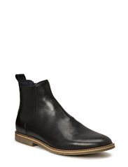 Chelsea Leather Boot JJA14 - Black