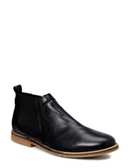 Low Leather Chelsea Boot DJF15 - Black