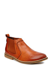 Low Leather Chelsea Boot DJF15 - Light Brown