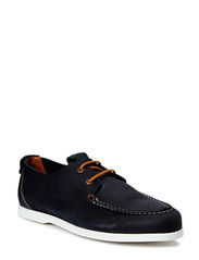 Casual Lace Up Moccasin DJF15 - Navy Blue