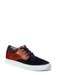 Suede Leather Shoe MAM15 - Navy Blue