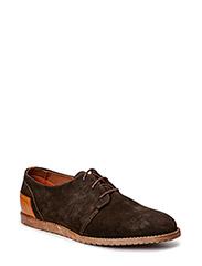 Suede Lace Shoe JJA15 - Dark Brown