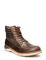 Leather Lace Boot SON14 - Dark Brown