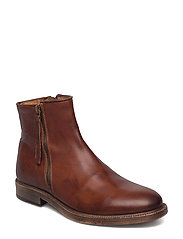 Double Zip Boot - LIGHT BROWN