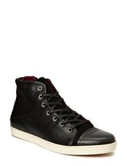 Hightop Sneaker w/ Zip JJA14 - Black