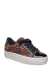 SHOES - BLACK PATENT/LEOPARDO 254
