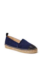 ESPADRILLE - Black nappa/jeans lino 711