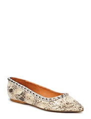 SHOES - Natural snake/calf/silver 382