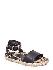 SANDALS - BLACK NAPPA/LEO/GOLD 742