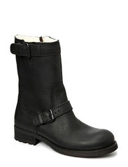 Biker boot with lining - Black tomcat 80