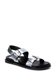 SANDALS - Silver argento metal 03