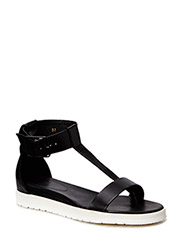 SANDALS - Black calf/white sole 800
