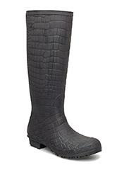 RAIN BOOTS - BLACK CROCO 10