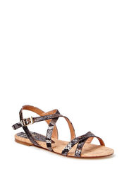 Flat sandal - Brown multi snake 306
