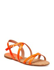 Flat sandal - Orange flour 016