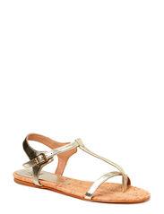 Flat sandal - Platino metallic 02
