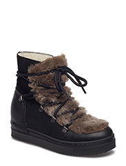 BOOTS - BLACK TOMCAT/BEIGE FUR/SUE 895