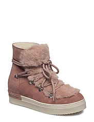 BOOTS - ROSE SUEDE/ FUR 599