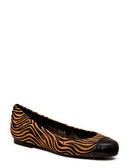 Shoe - Black calf/beig jade zebra 812