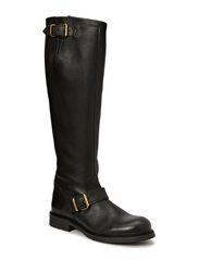 Long biker boot - Black tomcat/gold 802