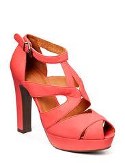 Sandal on heel - Coral agadir 48