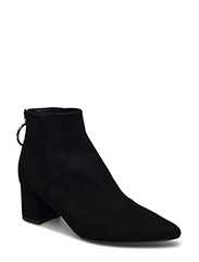 BOOTS - BLACK SUEDE/SILVER 503