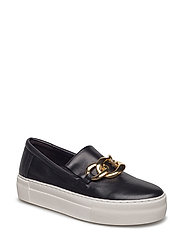SHOES - BLACK CALF/GOLD 802