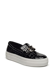 SHOES - BLACK CROCO PATENT 100