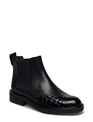 BOOTS - BLACK CROCO PAT/CALF 280