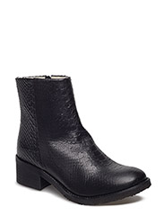 BOOTS - BLACK PYTHON/SILVER  20