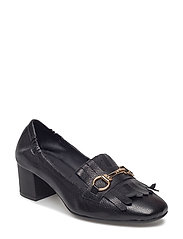 PUMPS - BLACK BUFFALO/GOLD 802