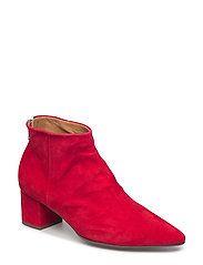 BOOTS - RED SUEDE/SILVER 593