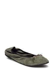 SHOES - LIGHT GREEN SUEDE 555