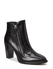 BOOTS - Black calf/silver 803