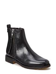 BOOTS CREPE SOLE - Black calf/silver 803 R