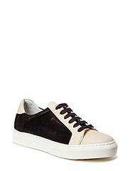 SHOES - Cream nappa/black suede 750