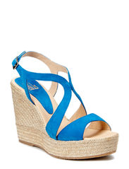 Wedge espadrille with plateau - Navy suede 51