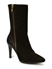 BOOTS - Black suede/calf/gold 582
