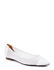 Pointed ballerina - White nappa/mesh 733