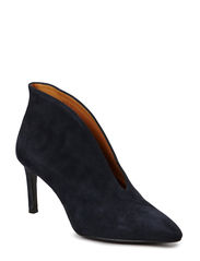 Pump with cool ankle boot look - Navy suede 51