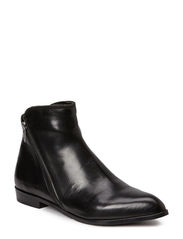 Ancle boot with zipper detail - Black calf 80