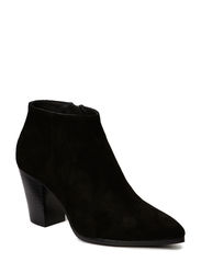 Ancle boot with zipper detail - Black suede 50