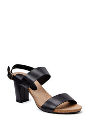 Sandal on soft cork sole - Black biker 60
