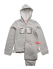 TRACK SUIT - LIGHT GREY MARL