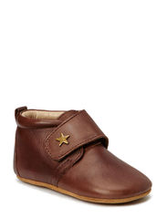 SLIPPERS - velcro star - 60 Brown