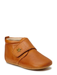 SLIPPERS - velcro star - 66 Cognac