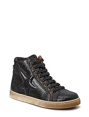 Sporty sneaker with lace - Snakeblack