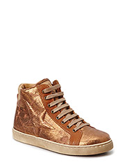 Sporty sneaker with lace - Whiskey